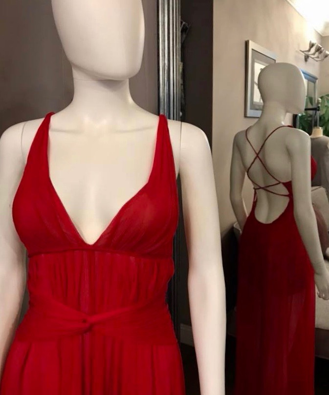 Ewa's Atelier red prom dress